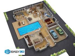 Pool House Plans Free Small Spaces Home Beauty Ideas 3d House Plan With Clear Floor