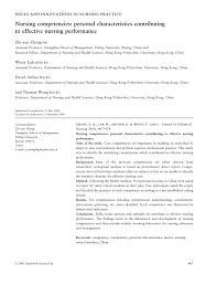 nursing competencies personal characteristics contributingto