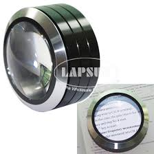 magnifier with led light big size 70mm dome 5x glass optical table magnifier led loupe f
