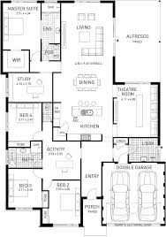 Single Storey Floor Plans The Catherine Bay Four Bed Single Storey Home Design Plunkett