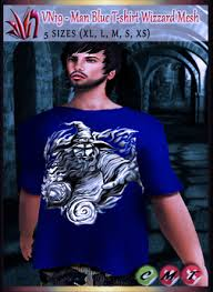 second life marketplace vn19 t shirt man blue wizard