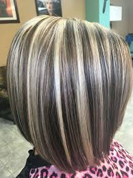 salt and pepper hair with brown lowlights light blonde highlights and chocolate brown lowlights hair by