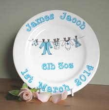 baby plates personalised new baby plate by sparkle ceramics
