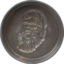 1920s early tin santa claus cake pan mold 8