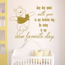 online get cheap pooh pattern aliexpress com alibaba group wall decal winnie the pooh wall quote any day spen