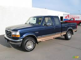 Ford F150 Truck 1995 - 1995 medium royale blue pearl ford f150 eddie bauer extended cab