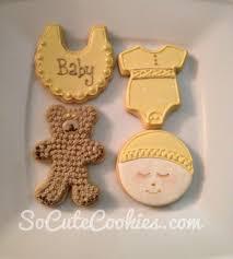 gender neutral baby shower so cute cookies