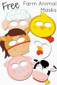 free printable farm animal masks kids love animal