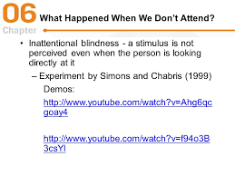 Change Blindness Youtube Chapter 6 Visual Attention Scanning A Scene Visual Scanning