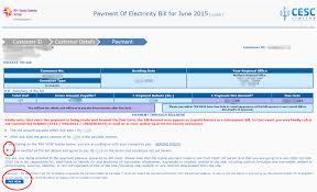 Electricity Bill Desk Cesc Kolkata Electricity Bill Payment Online Steps And Procedure