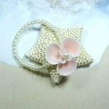 Wrist Corsage Bracelet Seaflower Seashell Pearl Wrist Corsage Bracelet By Shellscapes