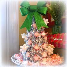 a sparkly peppermint christmas tree dollar tree craft dollar