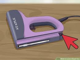 Electric Staple Gun Upholstery 3 Ways To Load A Staple Gun Wikihow