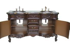 adelina 60 inch antique double bathroom vanity italian marble top