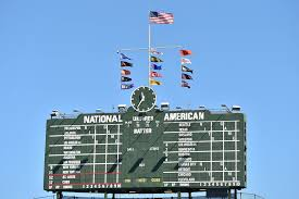 Houston City Flag Chicago Cubs New Flags Will Wave Around Wrigley Field Scoreboard