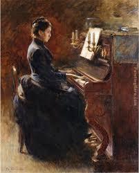 girl at piano painting theodore robinson girl at piano art painting