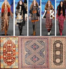 inspired rugs fashion week antique rugs inspired by fashion runway