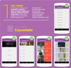 table layout material design android material design ui android template app by creativeform codecanyon