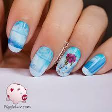 freehand cloud design nail art tutorial piggieluv freehand glass vase nail art