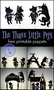 pigs shadow puppet play free printables