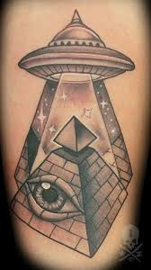 cat tattoos traditional eye of providence ufo