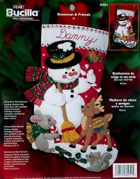 snowman friends 18 bucilla felt kit 84951