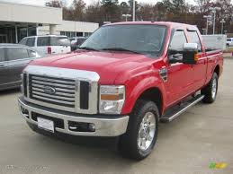 2010 vermillion red ford f250 super duty lariat crew cab 4x4