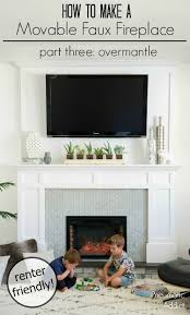 How To Make Fake Fireplace by Pneumatic Addict How To Make A Movable Faux Fireplace Part