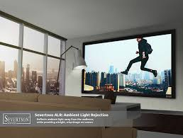 ambient light rejecting screen severtson screens launches ambient light rejection projection