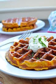 sweet potato waffles w sour cream u0026 maple the pig u0026 quill