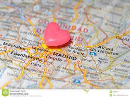Madrid Map Pushpin Over Madrid Map Royalty Free Stock Photography Image