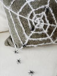 halloween pillow how to make a spider web pillow hgtv