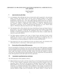 Term Sheet Template Dia Term Sheet Amendment To 1988 Annexation And Intergovernmental A