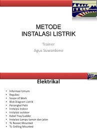 metode instalasi listrik dasar ppt