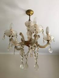 Antique Chandeliers Sydney Sale Italian 8 Arm Black Glass Chandeliers 2 Available