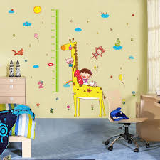 Stickers To Decorate Walls Cute Height Chart Wall Sticker Removable Lovely Animals Girl