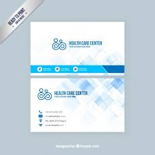 health care visit card vector free