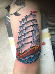 traditional clipper ship made by dave sinor at american monarch