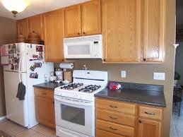 dark wood kitchen cabinets wall color kitchen decoration