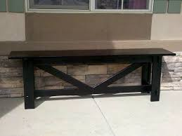 ana white large rustic x bench diy projects