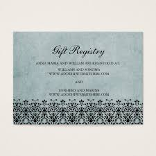 wedding registry cards wedding gift registry cards light blue swirls zazzle