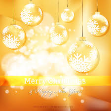 orange christmas ornament background template 123freevectors