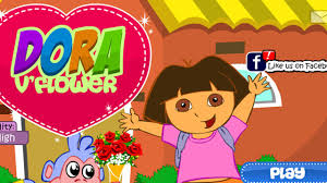 dora flower decoration games for girls baby dora home decoration
