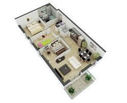 Studio Loft Apartment Floor Plans by 25 More 2 Bedroom 3d Floor Plans 5 Loversiq