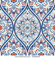 seamless colorful turkish pattern endless pattern stock vector