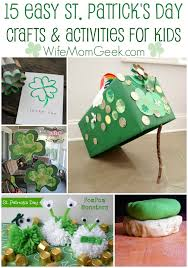 15 easy st patrick u0027s day crafts and activities for kids
