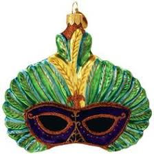 each new orleans ornament is blown painted