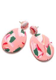 pink drop earrings salmon pink ink drop earrings emily green