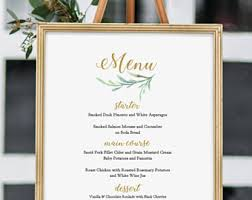 wedding bar menu template menus connie joan diy