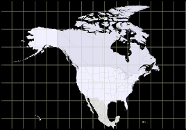 Map Of Canada And Usa by Map Of North America With Latitude And Longitude Grid